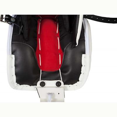 Close up Inside Boot (Bauer Reactor 9000 Goalie Leg Pads - Senior)