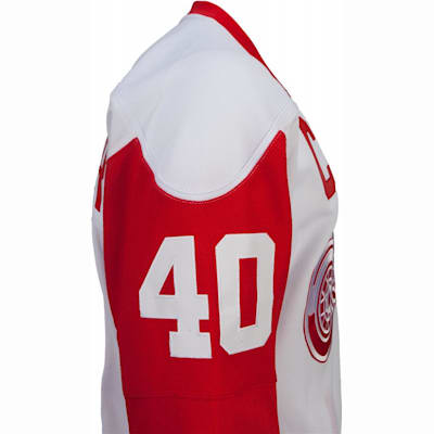 No. 40 On Sleeve (Reebok Henrik Zetterberg Detroit Red Wings Premier Jersey - Away/White - Youth)