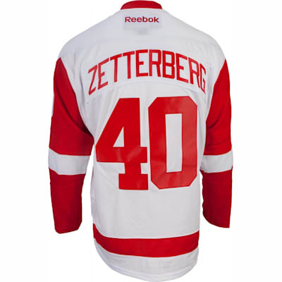 Zetterberg No. 40 On Back (Reebok Henrik Zetterberg Detroit Red Wings Premier Jersey - Away/White - Youth)