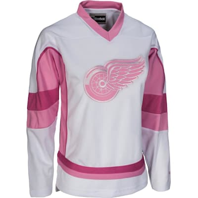 Detroit Red Wings (Reebok Detroit Red Wings White Fashion Jersey - Girls)
