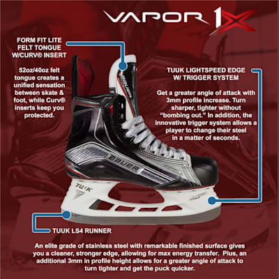 (Bauer Vapor 1X Ice Hockey Skates - Senior)
