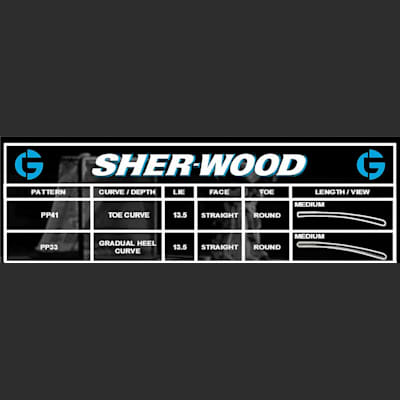 Blade Chart (Sher-Wood GS650 Foam Core Goalie Stick - Senior)