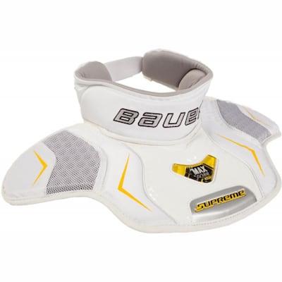 White (Bauer Supreme Goalie Neck Guard - Junior)