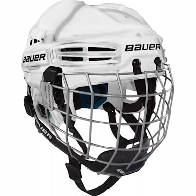 White (Bauer Prodigy Hockey Helmet Combo - Youth)