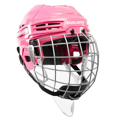 Pink (Bauer IMS 5.0 Hockey Helmet Combo)