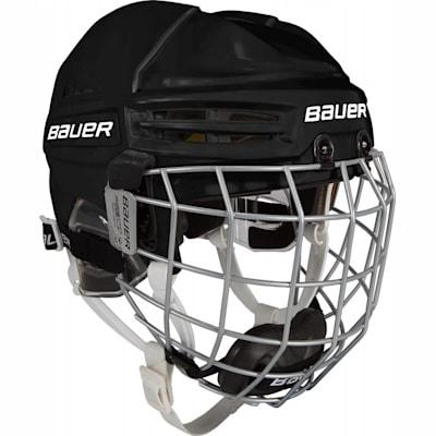Black (Bauer RE-AKT 100 Hockey Helmet Combo - Youth)