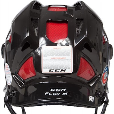 Back View (CCM Fitlite FL80 Hockey Helmet)