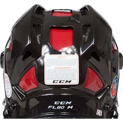 Back View (CCM FitLIte 80 Hockey Helmet Combo)