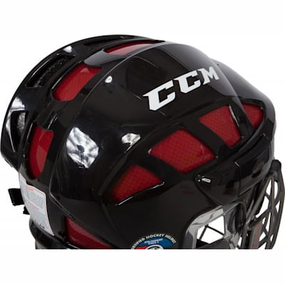 Back View (CCM Fitlite FL80 Hockey Helmet Combo)
