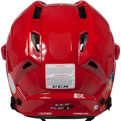 Back View (CCM Fitlite FL60 Hockey Helmet)