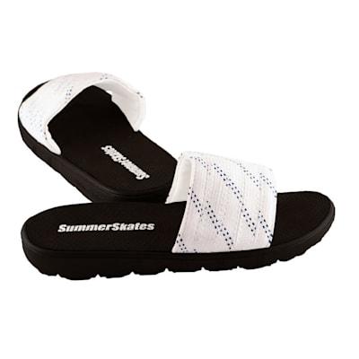 White with Blue (SummerSkates Hockey Sandals - Senior)