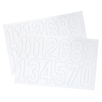 A&R Number Decal Pack (A&R Hockey Helmet Numbers - 2 Inch)