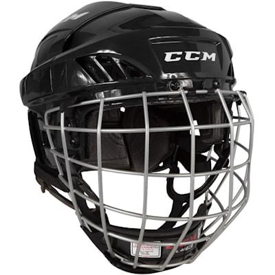 Black (CCM Fitlite FL40 Hockey Helmet Combo)