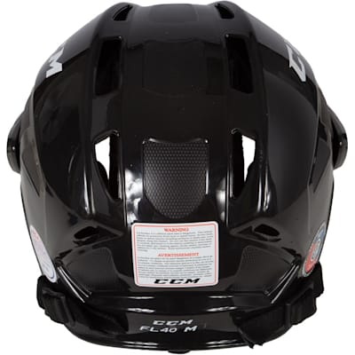 Back View (CCM Fitlite FL40 Hockey Helmet Combo)