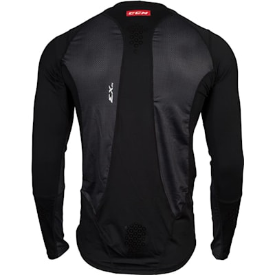 Back View (CCM Long Sleeve Compression Shirt w/ Grip - Adult)