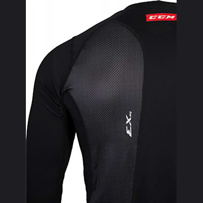 Shoulder View (CCM Compression Long Sleeve Shirt - Youth)