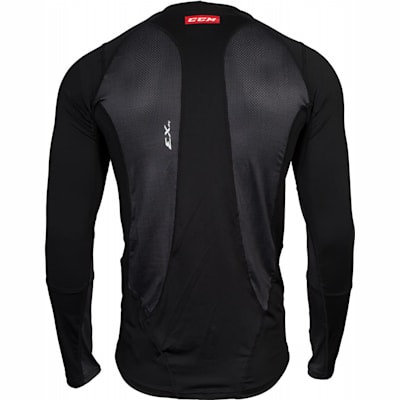 Back View (CCM Compression Long Sleeve Shirt - Adult)