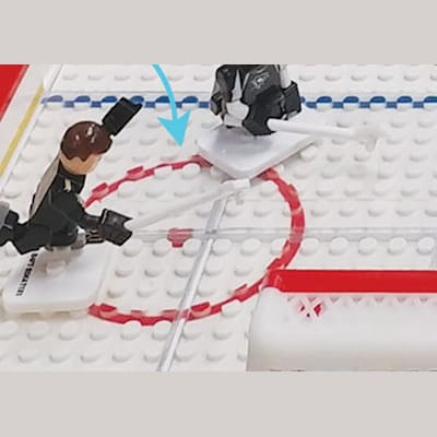 Smooth Ice Surface (OYO Sports Gametime Rink Minifigure)