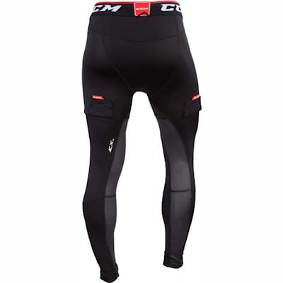 Back View (CCM Compression Jock Pant w/ Grip - Senior)