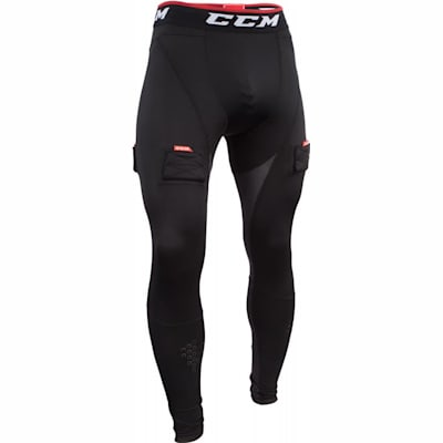 Black (CCM Compression Jock Pant w/ Grip - Senior)