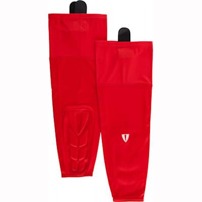 Red (Vital Nation KPS600 Protective Hockey Socks - Intermediate)