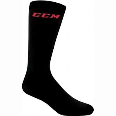 Black (CCM CoolMax Active Liner Knee Length Performance Socks - Adult)