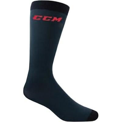 Carbon (CCM CoolMax Active Liner Knee Length Performance Socks - Adult)
