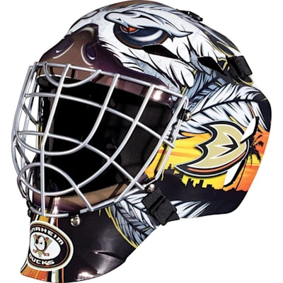 Anaheim Ducks (Franklin GFM1500 NHL Decal Street Hockey Goalie Mask)