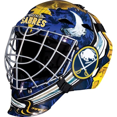 Buffalo Sabres (Franklin GFM1500 NHL Decal Street Hockey Goalie Mask)