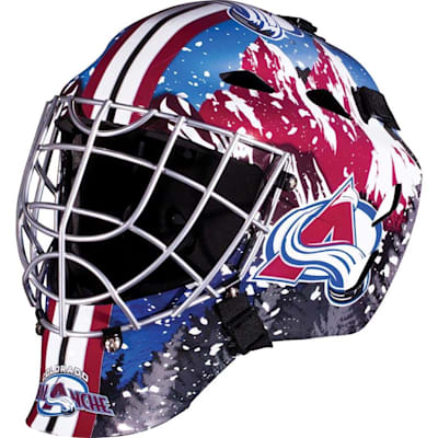 Colorado Avalanche (Franklin GFM1500 NHL Decal Street Hockey Goalie Mask)