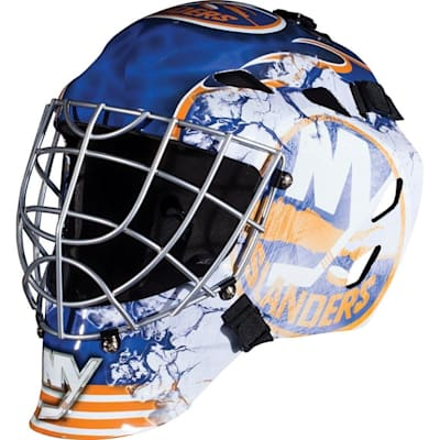 New York Islanders (Franklin GFM1500 NHL Decal Street Hockey Goalie Mask)