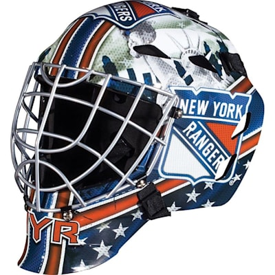 New York Rangers (Franklin GFM1500 NHL Decal Street Hockey Goalie Mask)