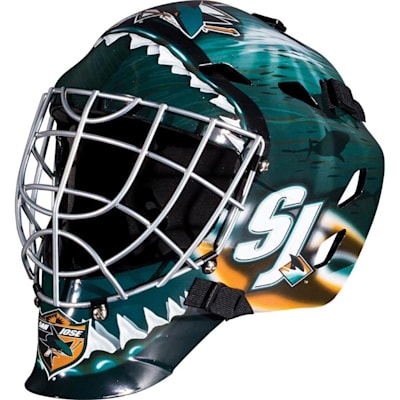 San Jose Sharks (Franklin GFM1500 NHL Decal Street Hockey Goalie Mask)