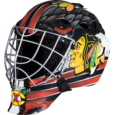 Chicago Blackhawks (Franklin GFM1500 NHL Decal Street Hockey Goalie Mask)