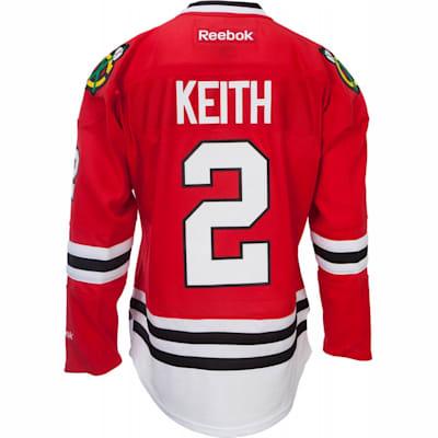 quality design af240 95797 2 On Back (Reebok Duncan Keith Chicago Blackhawks Premier Jersey - Home