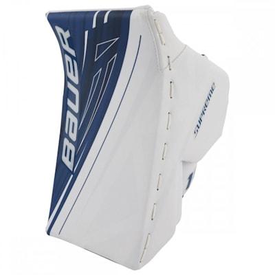 White/Blue (Bauer Supreme 1S OD1N Goalie Blocker - Senior)