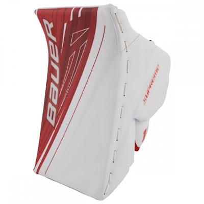 White/Red (Bauer Supreme 1S OD1N Goalie Blocker - Senior)