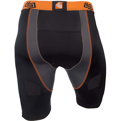 Back View (Ultra Compression Hockey Jock Shorts w/AirCore Cup - Mens)