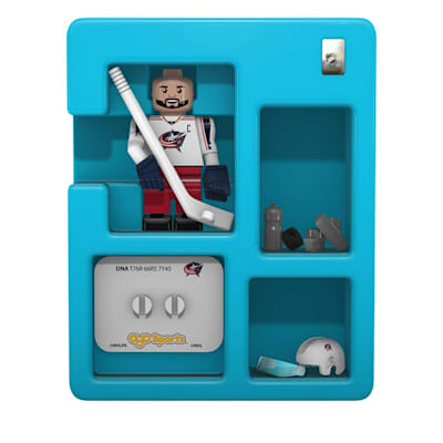 Contents Of Package (OYO Sports Columbus Blue Jackets NHL Mini Figures - Away Jersey)