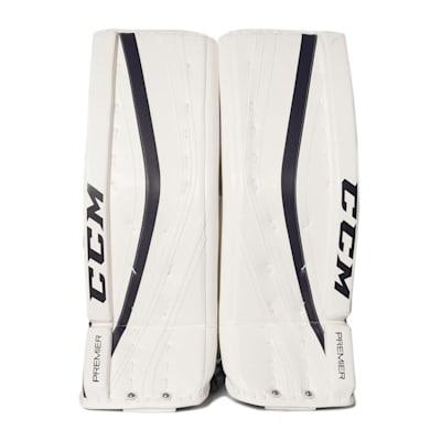 White/Navy (CCM Premier Pro Goalie Leg Pads - Senior)
