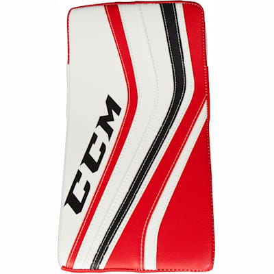 White/Black/Red (CCM Premier Pro Goalie Blocker - Senior)