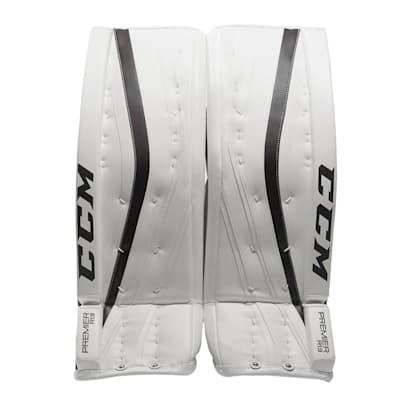 White/Navy (CCM Premier R 1.9 Hockey Goalie Leg Pads - Senior)