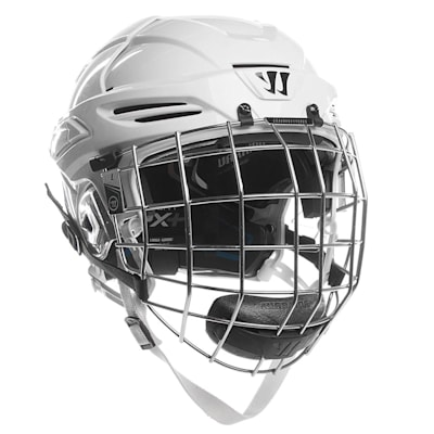 White (Warrior Krown PX+ Hockey Helmet Combo)