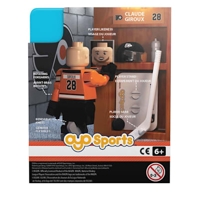 Back Of Package (OYO Sports Philadelphia Flyers NHL Mini Figures - Third Jersey)