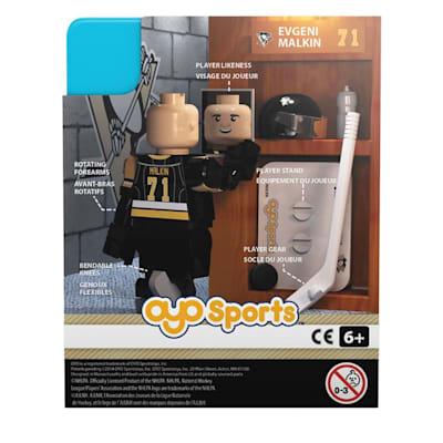 Back Of Package (OYO Sports Pittsburgh Penguins NHL Mini Figures - Third Jersey)