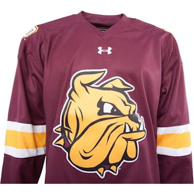 Front (Under Armour Minnesota-Duluth Bulldogs Jersey - Home/Dark - Senior)