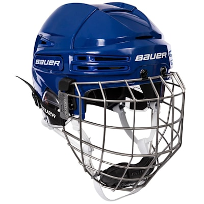 Blue/Blue (Bauer RE-AKT 75 Hockey Helmet Combo)