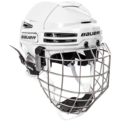 White/Black (Bauer RE-AKT 75 Hockey Helmet Combo)