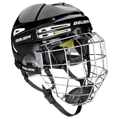 Black/White (Bauer RE-AKT 75 Hockey Helmet Combo)