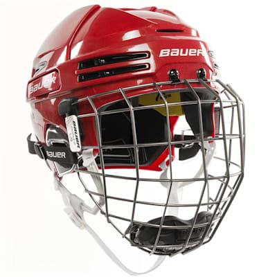 Red/Black (Bauer RE-AKT 75 Hockey Helmet Combo)
